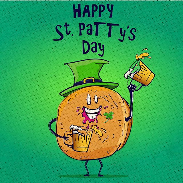Check out this little guy celebrating St. Pattys day! Look at my story for the wallpaper you can screen cap. Feel free to share and tag me if you like it!  #stpattysday #dohnuts #beer #wallpaper #green #paczki #celebration #oscaralatorre #tothetower