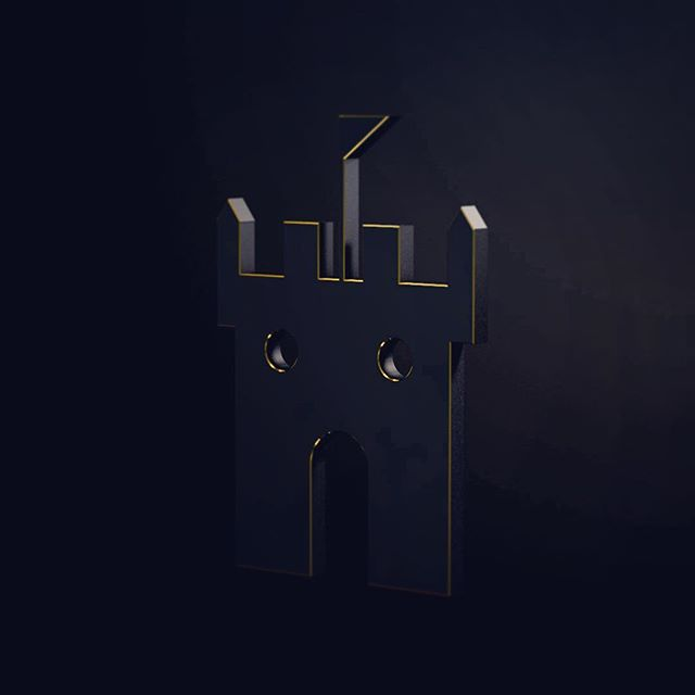 Messing around in some cinema 4D.  #cinema4d #goldandblack #oscaralatorre #tothetower #tower #3d