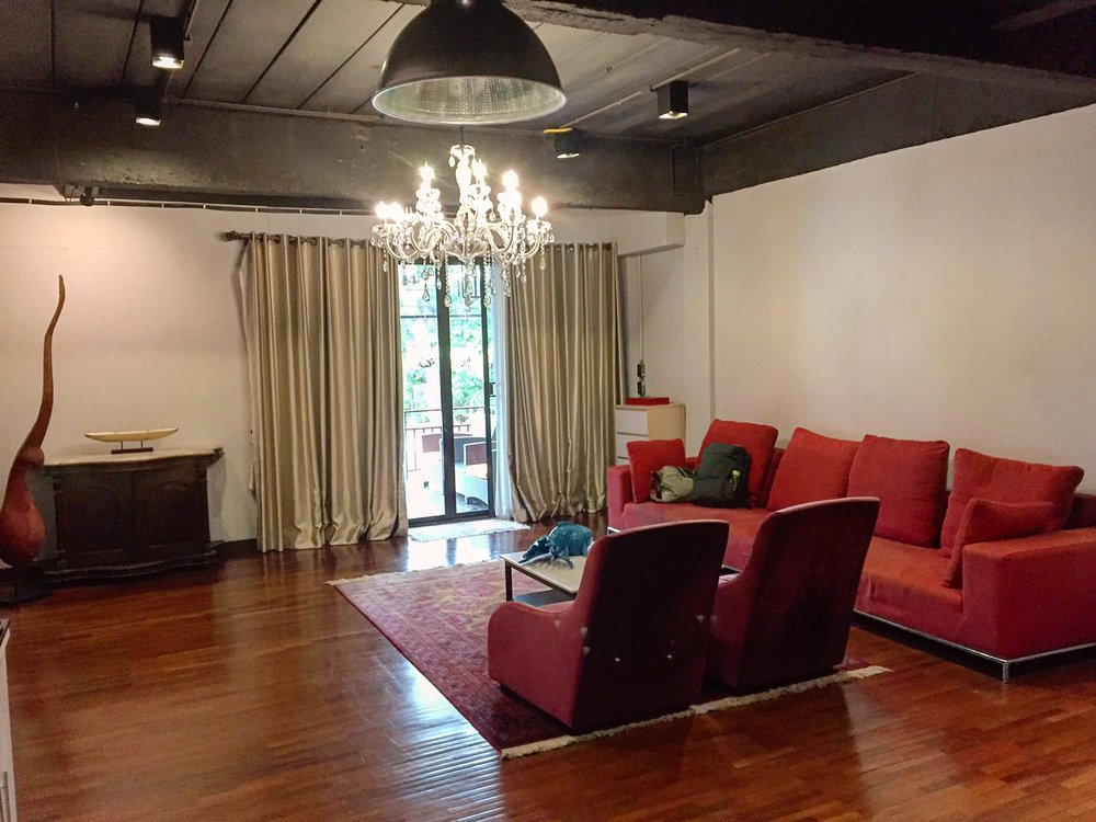 My eclectic loft in Thailand - by far the largest property I've stayed in at a whopping $35/night.