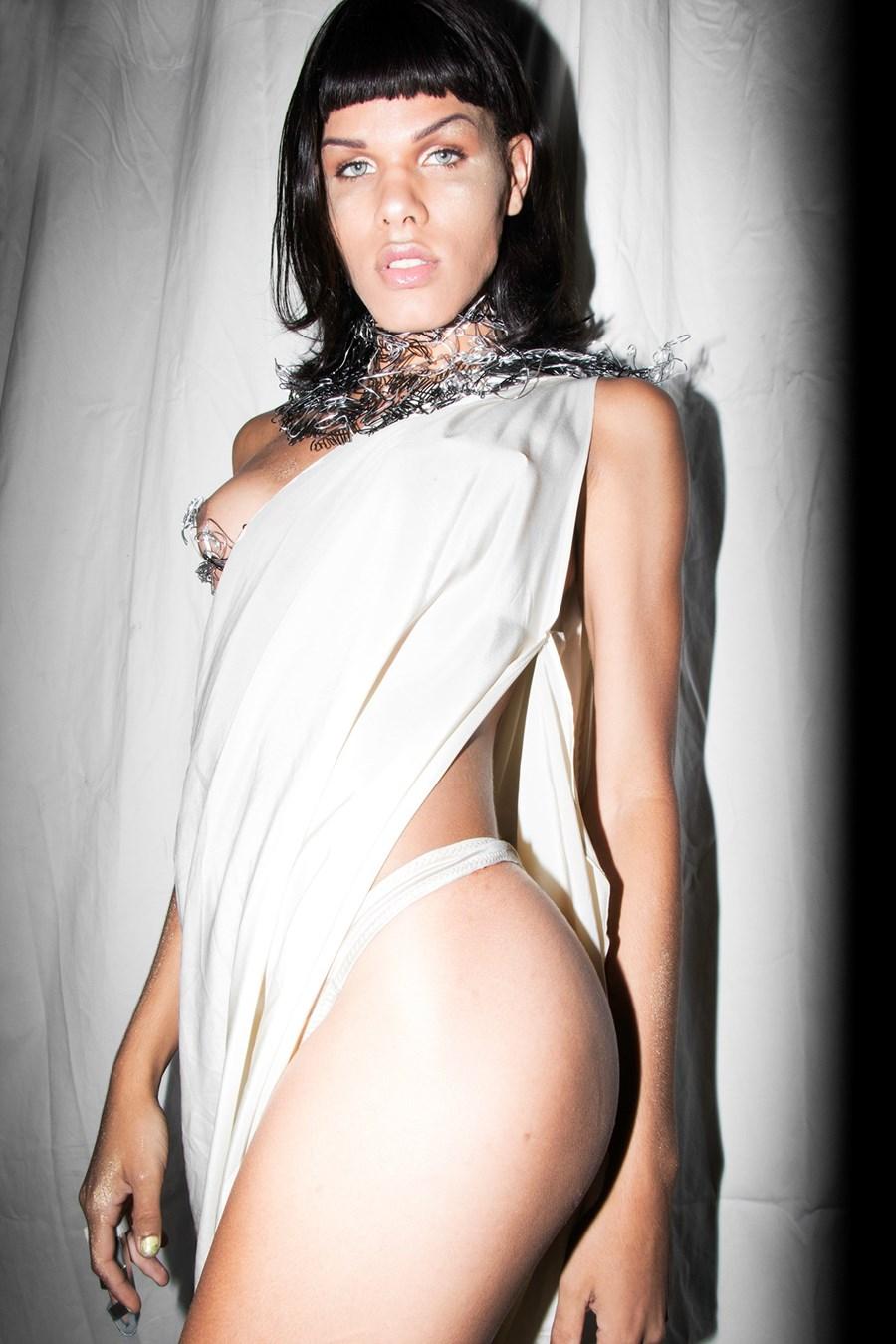 Model:   Maya Monès                                       Designer:  Gogo Graham  NYFW SS17  Photography: BABYHOUSE/MADE  Makeup:  Slater Stanley    Dazed Digital