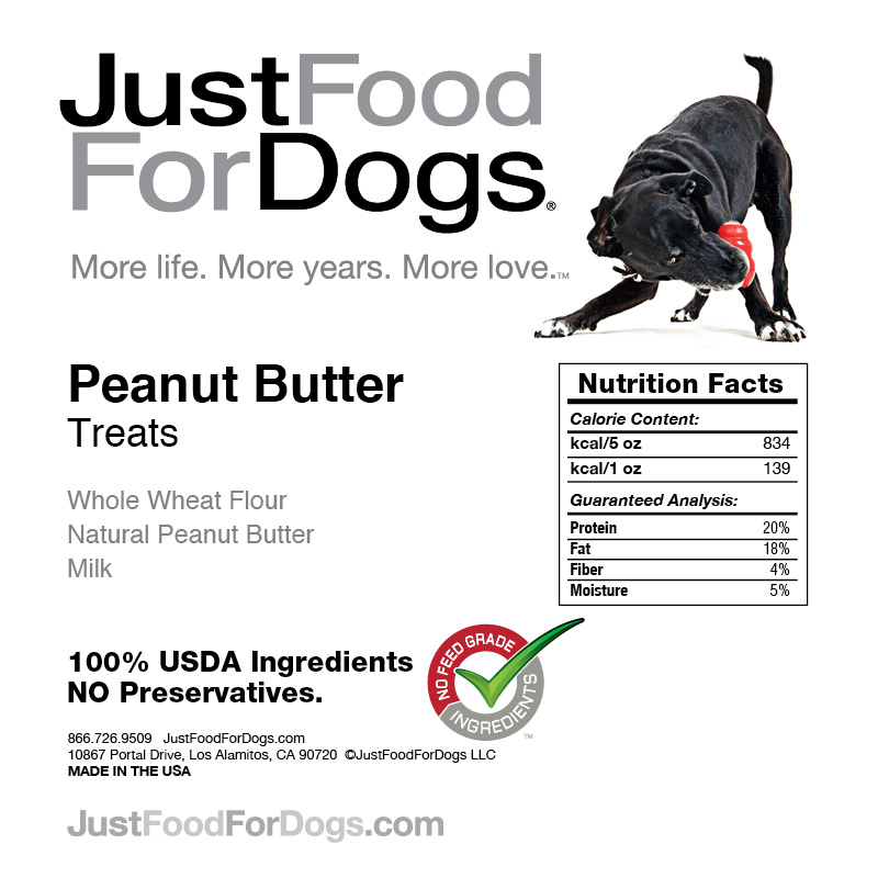 Just Food For Dogs Peanut Butter Treats