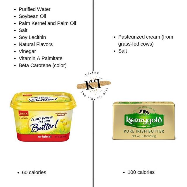 ✅calories count, but that's not ALL that counts. There is so much more that goes into fueling your cells (nutrition vs dieting) and when we focus solely on calories we lose sight of eating REAL food with value! 🙈 #  Grass-fed butter is higher in omega 3s (the anti-inflammatory fatty acids) in addition to boasting conjugated linoleic acid )which people take in supplemental form for weight loss!). In fact, grass-fed butter has 5 TIMES the amount of CLA than butter from grain fed cows.🤗 #  Grass-fed butter also contains lecithin, selenium, zinc, magnesium and other essential nutrients, not to mention it tastes delicious 🐄  #  Stop focusing on CALORIES as the end all be all and start viewing food as FUEL for your cells. If you view it that way, the micronutrient content  becomes really important because it's what your body runs on! 😎 #  You can eat butter. You're welcome 🙌🏻 😆 #  Need fast and easy recipes? Download my free ebook 21 meals in 21 minutes! 👆🏻👆🏻👆🏻👆🏻LINK TO DOWNLOAD IN PROFILE 🤗