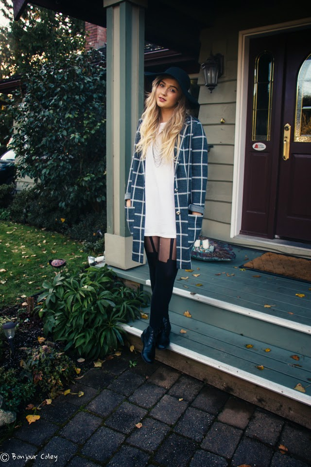 Fashion guru blogger youtuber like beautycrush and sunbeamsjess bonjour coley's Friday Outfit of the day featuring all topshop and topman clothes and boots from refresh