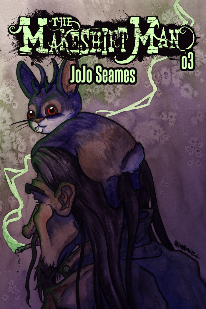 3. Jailhouse Rock   The Makeshift Man meets Elvis the jackalope, and together they go looking for a magical key. 2014.   Purchase digital copy.   Purchase print copy.    Cover  |  1  |  2  |  3  |  4  |  5  |  6  |  7  |  8  |  9  |  10  |  11  |  12  |  13  |  14  |  15  |  16  |  17  |  18  |  19  |  20  |  21  |  22  |  23  |  24  |  25  |  26  |  Bonus