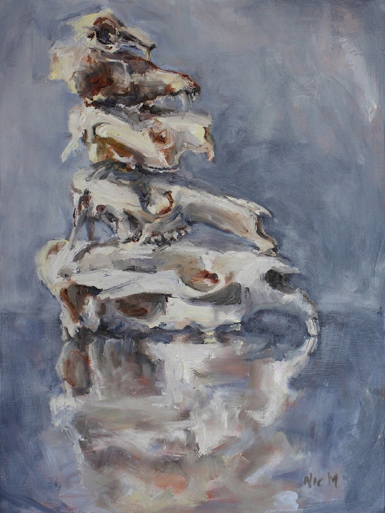 3 mason nic_rabbit fox koala eastern grey kangaroo and wombat_2016_45x60cm_oil on canvas_reduced for catalogue.jpg