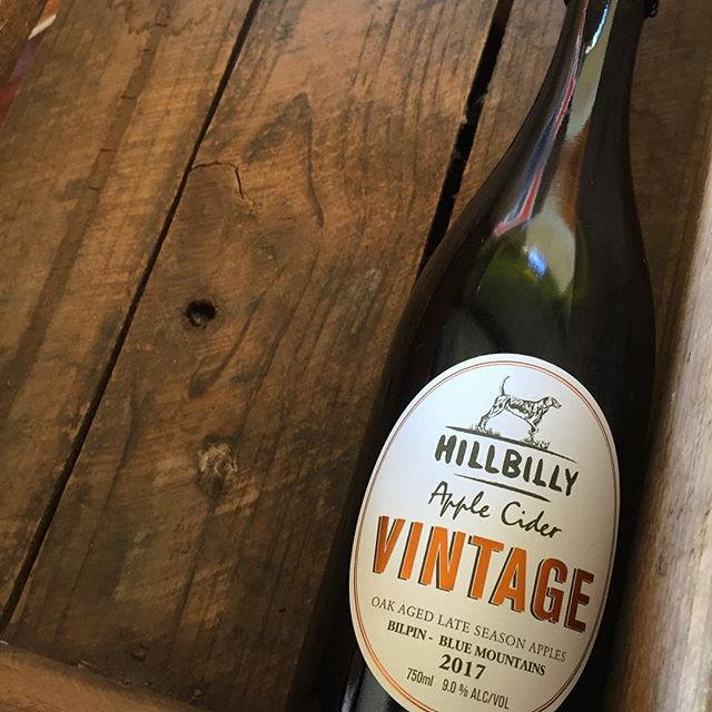This gallery owner having a small, romantic getaway in the lower Blue Mountains. Why buy one bottle when you can buy a case...as Adam says! This is the vintage apple cider aged in French Oak barrels. Sounds grand & perfect for Spring evenings & celebrating 10 years of being together. #darlingweekend #mytinyatlas #myhappyviews #aweekendwhimsy