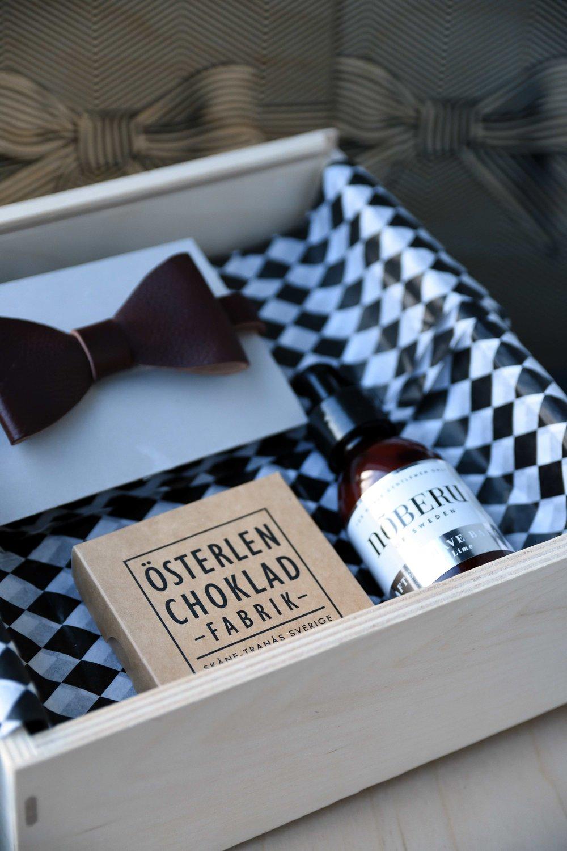 En presentbox för HONOM - den medvetne gentlemannen