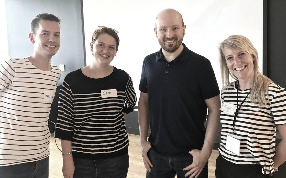 artijn, Caya, Brian and Fenna. (we forgot to send Brian the dress code memo 👔)