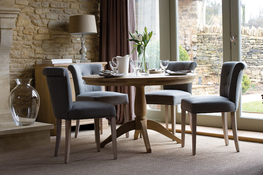 NEPTUNE TABLE & CHAIRS - a great selection of round tables, extending tables, and lots of chair options