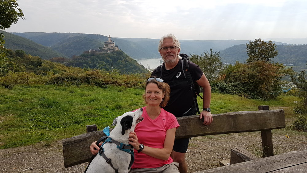 That's us of course, and in the background is Marksburg, above Braubach.