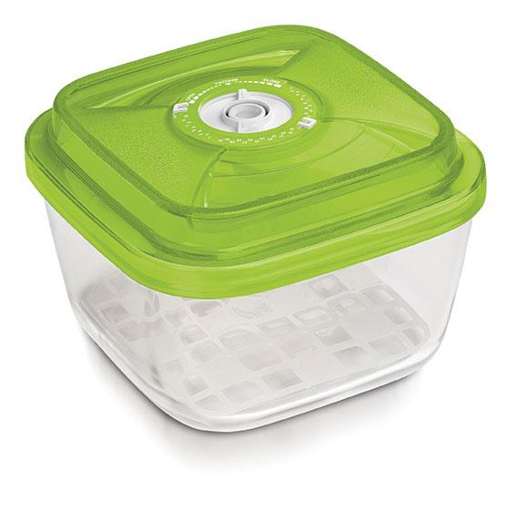 Glazen pot (vierkant, 2.2L, €69)