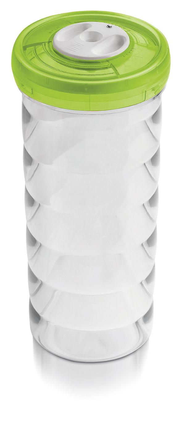 Glazen pot (rond, 1.6L, €55)
