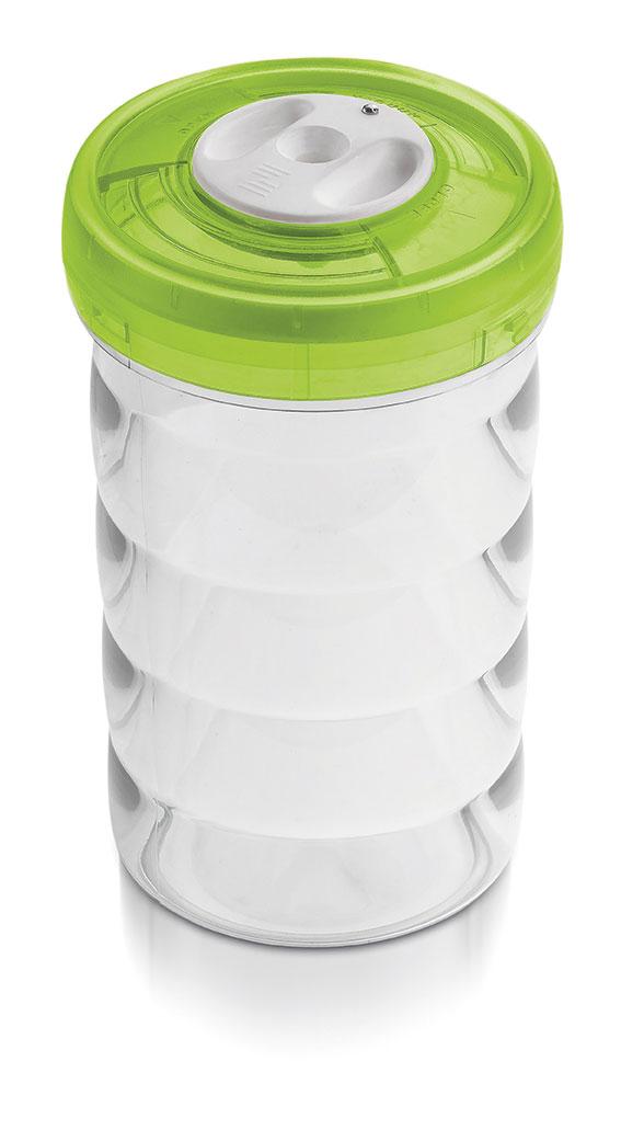 Glazen pot (rond, 1.15L, €49)