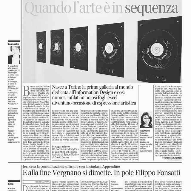 Super excited about bringing @oddityviz to my hometown, hope to see you all tomorrow! Come and say Ciao!  Cc thanks @wildmazzini @corriere @la_stampa for the articles!
