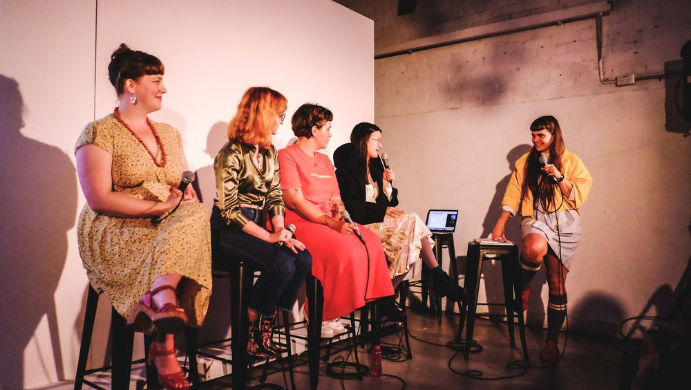 The sold-out launch party featuring five Victorian creatives from the first season: Sarah Firth, Wendy Syfret, Frances Cannon, Becky Sui Zhen, and Honor Eastly.