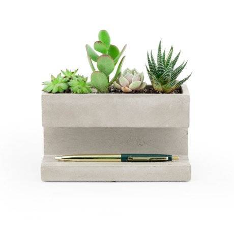Kikkerland Concrete Desk Planter