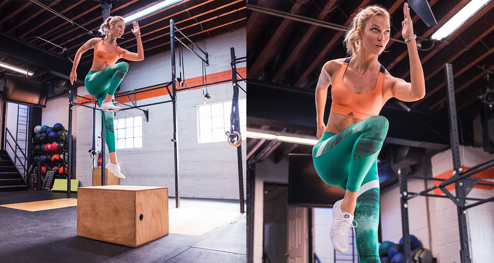 ravel and train with Karlie Kloss 😏✈️🏋🏼♀️
