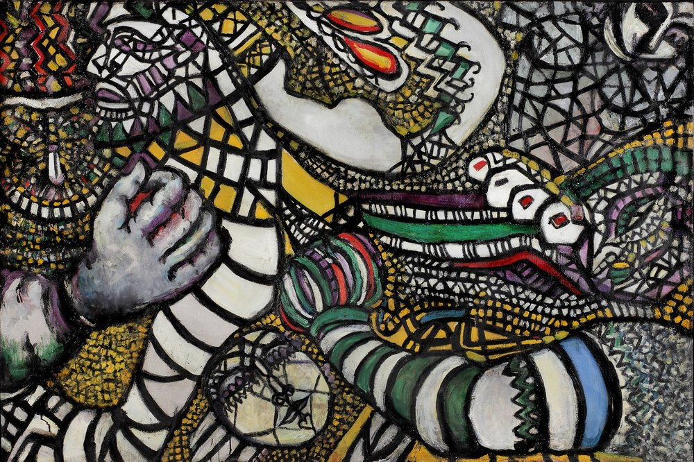 Fahrelnissa Zeid Fight Against Abstraction (1947) © Raaid Zeid Al-Hussein © Istanbul Museum Of Modern Art.