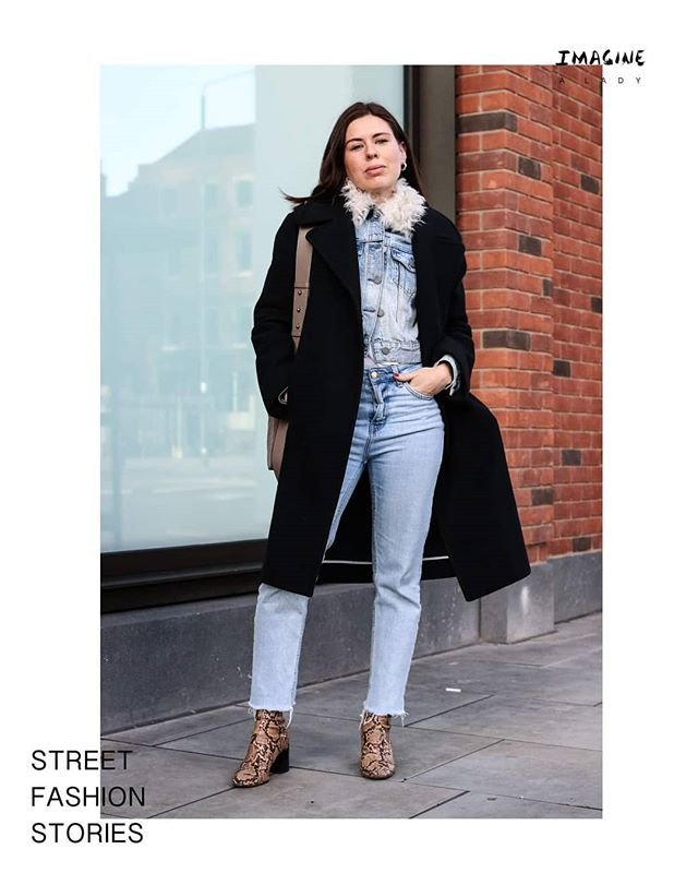 """I'm just in London for the day. I live in New York. I'm a menswear designer. I'm wearing this DKNY coat my friend gave me when she used to work there. I just wanted to wear denim underneath."" Morgane 🗽🚁 Discover more stories from inspiring ladies 👉🏽https://www.imaginealady.com/street-fashion-stories  #denim #ootd #streetfashionstories #imaginealady"