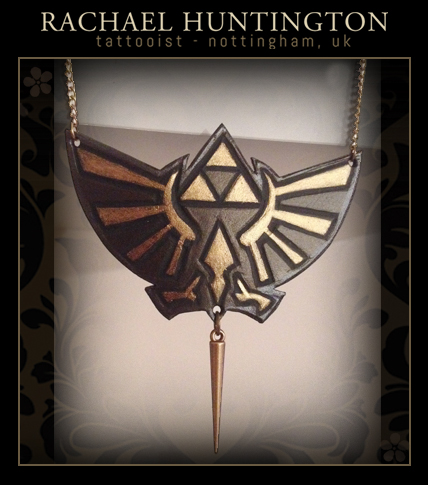 Zelda Triforce leather necklace