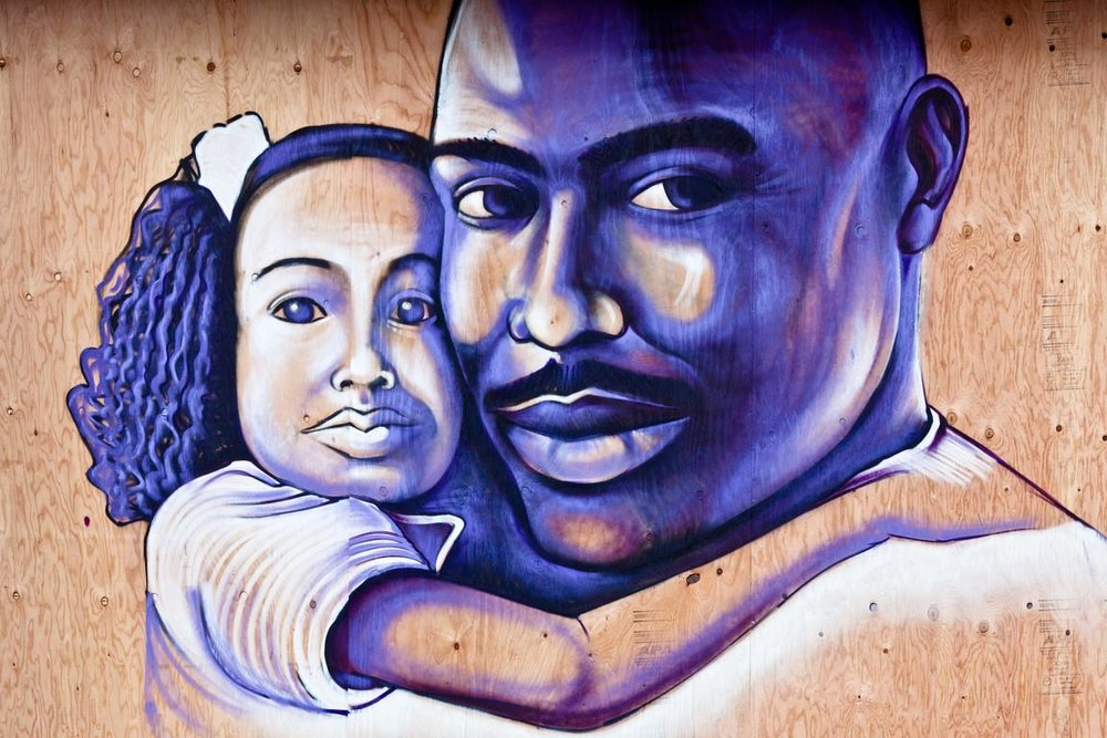"""""""Oscar and Tatiana,"""" by Miguel """"Bounce"""" Perez of the Trust Your Struggle Collective, Oakland, CA."""