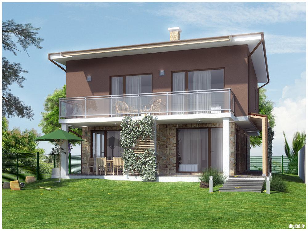 Визуализация къща в Нови хан