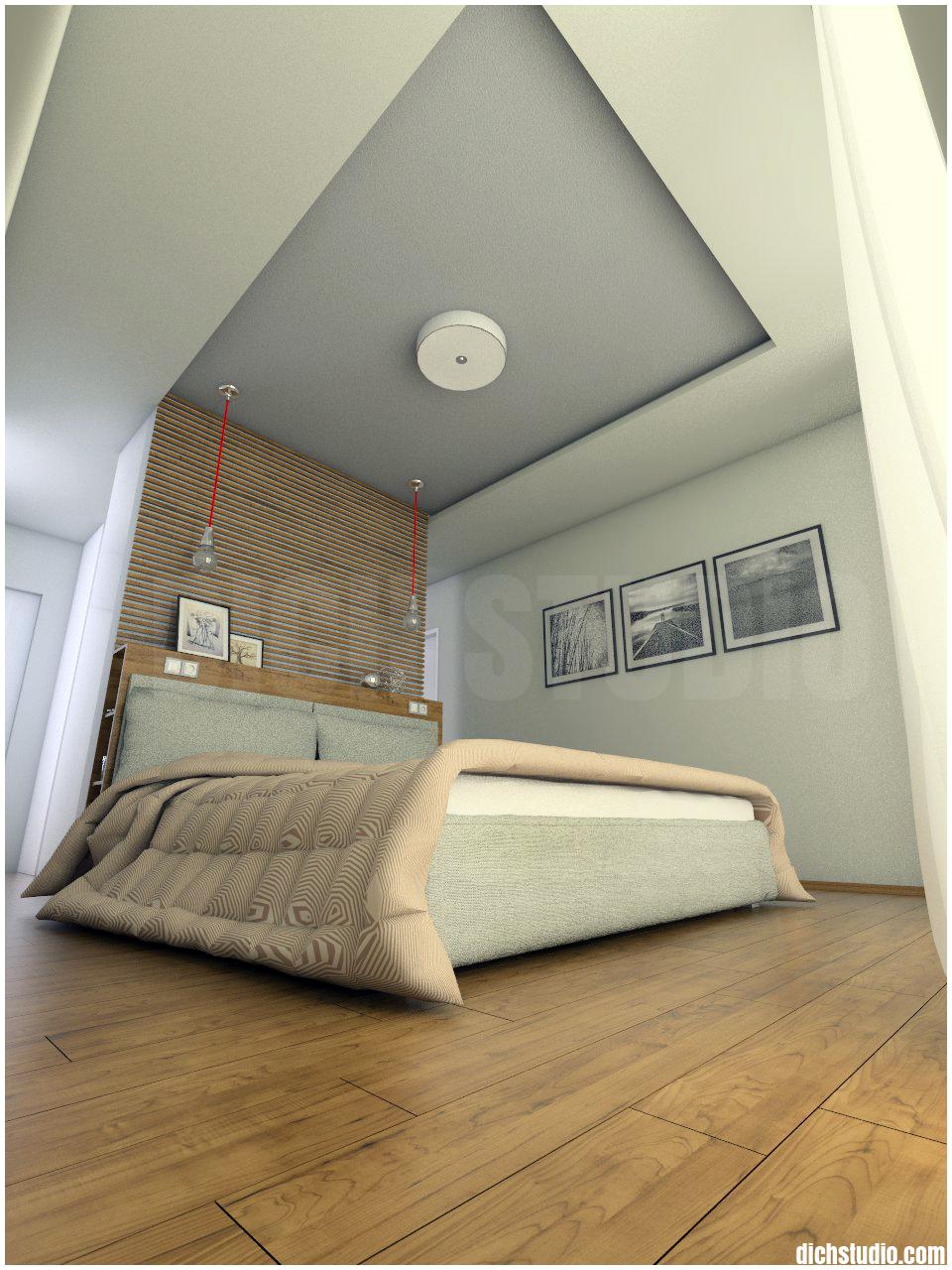 Визуализация интериорен дизайн на основна спалня