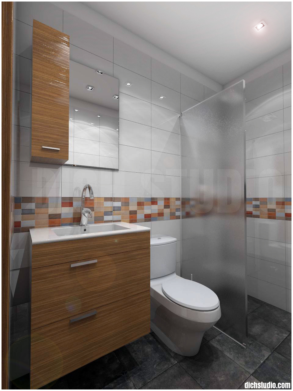 3D - bathroom, house near Varna