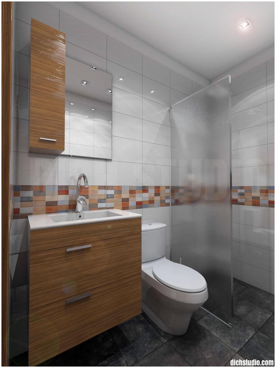 Дизайн на баня за гости