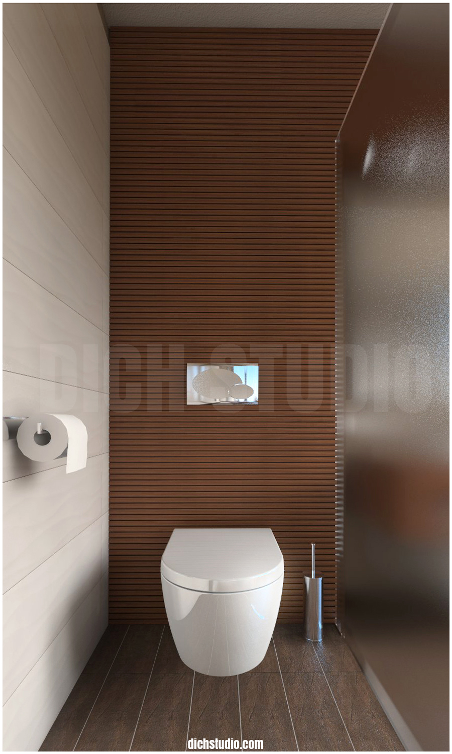 3D - master bathroom, house near Varna