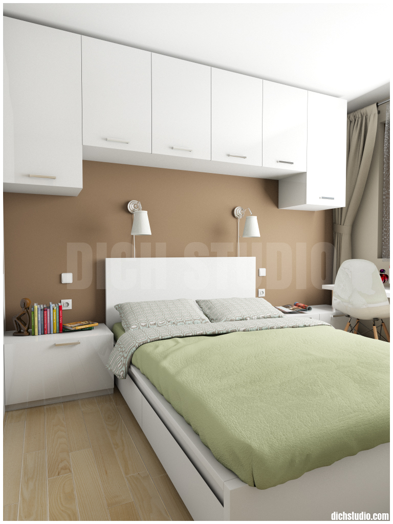 bedroom in brown