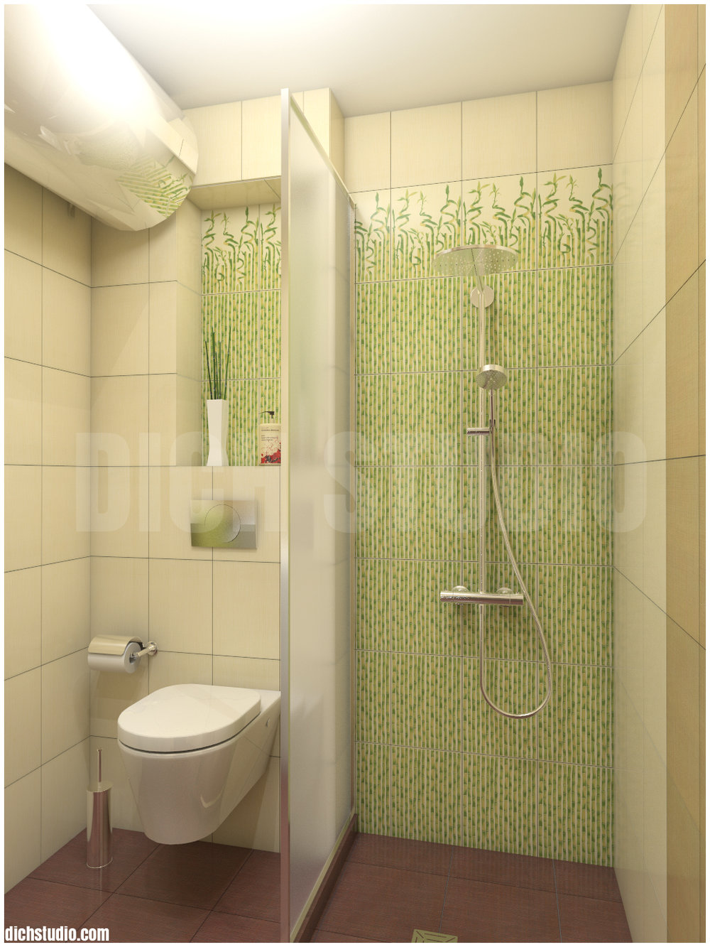 bathroom in green