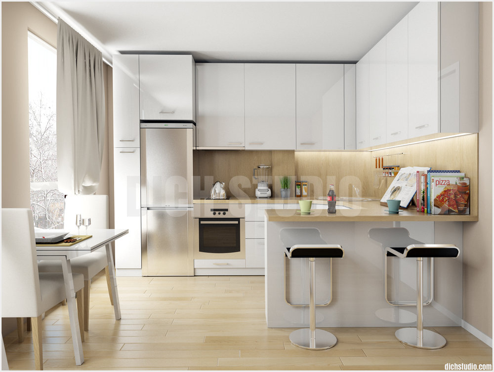 kitchen idea 3d rendering