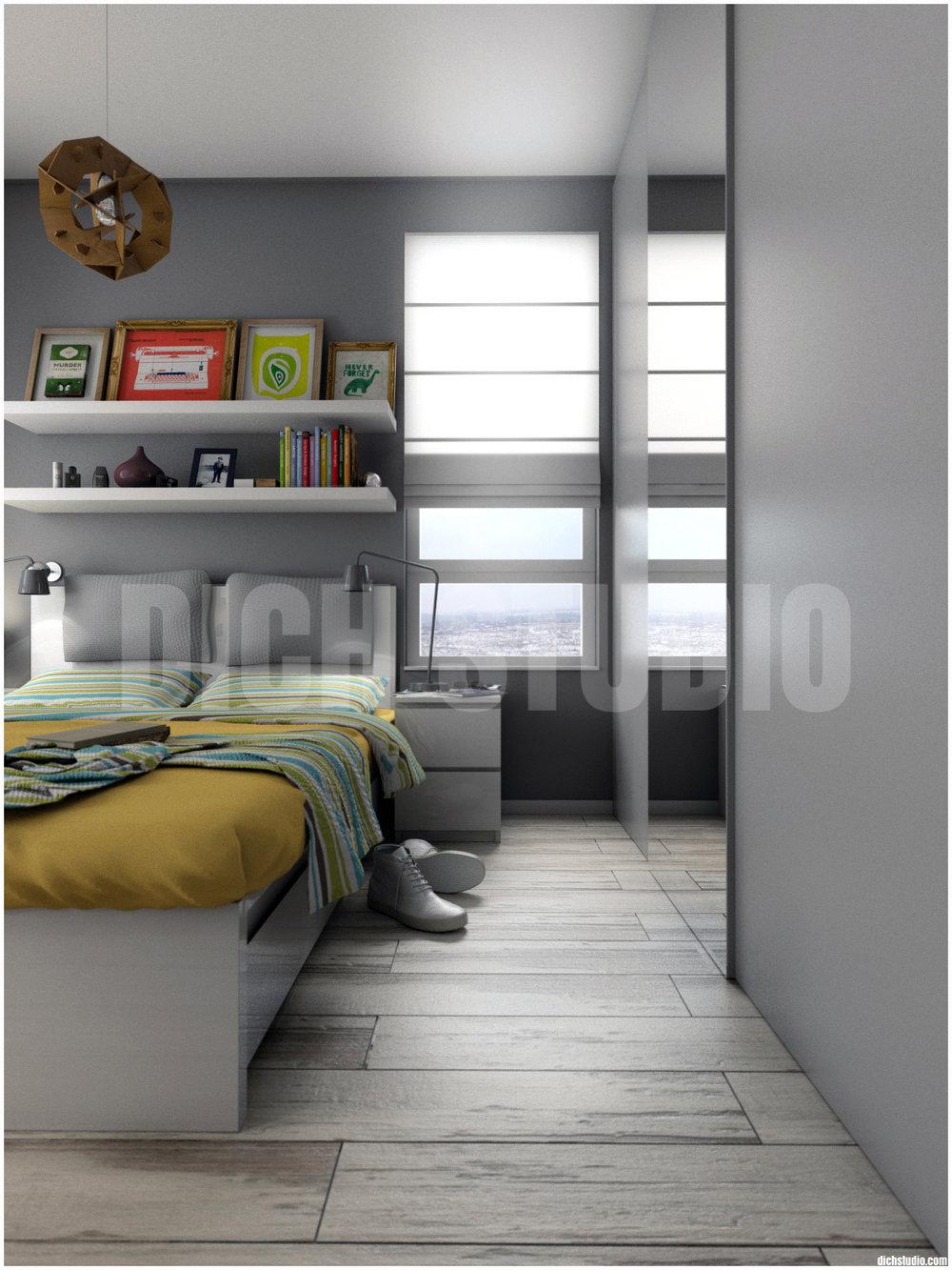Визуализация спалня апартамент, Младост, София