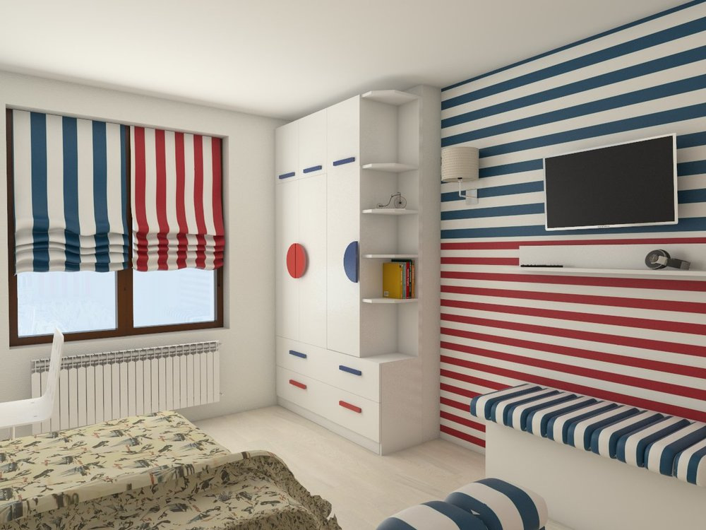 интериорен дизайн вариант на детска стая, Витоша, София