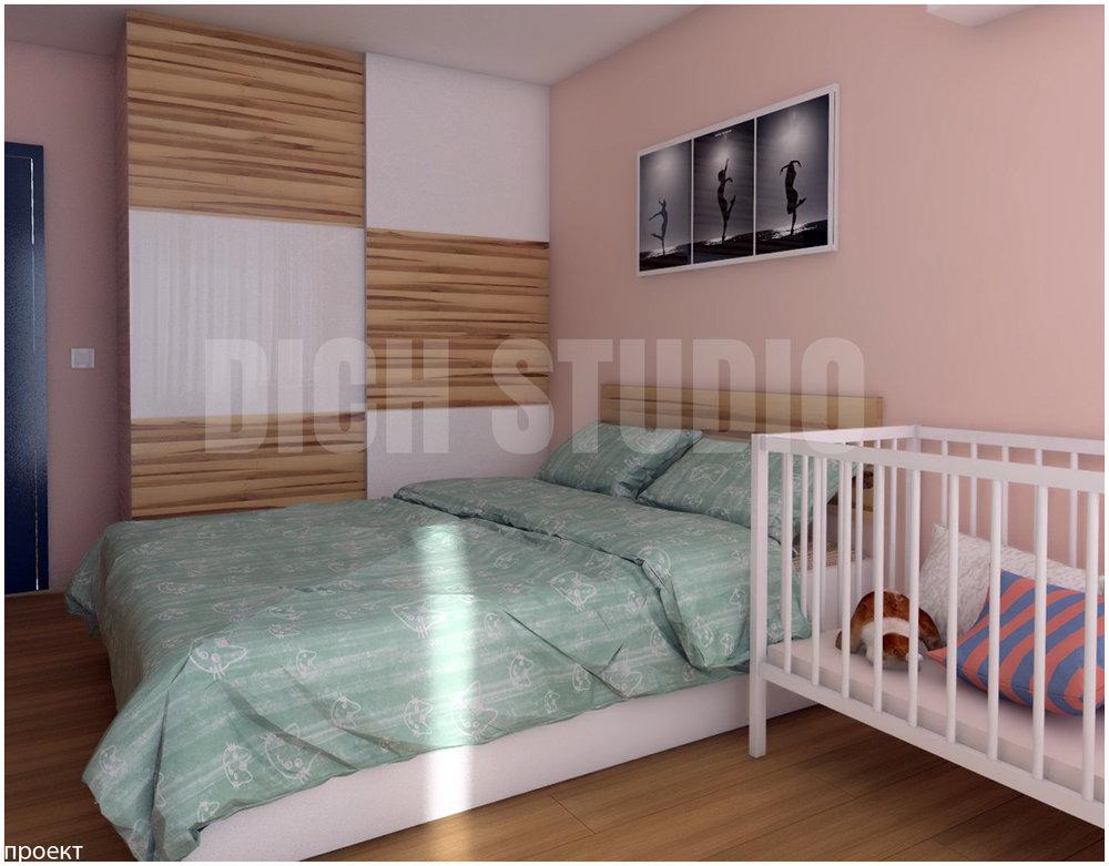 Визуализация интериорен дизайн на спалня, Младост, София