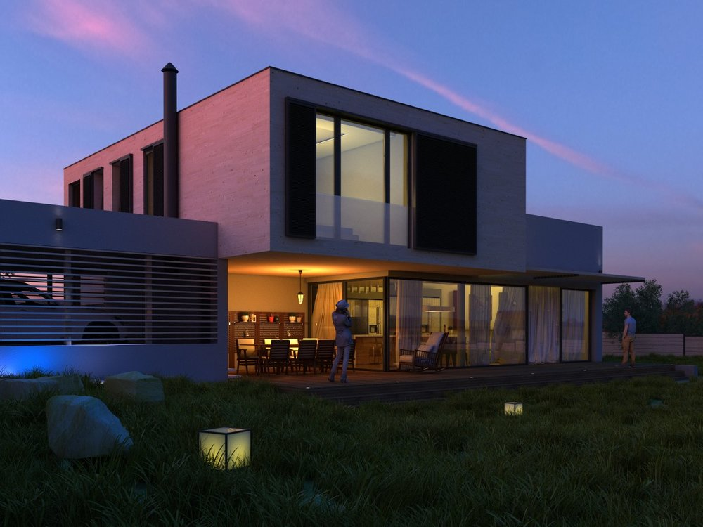 Exterior rendering, house near Varna