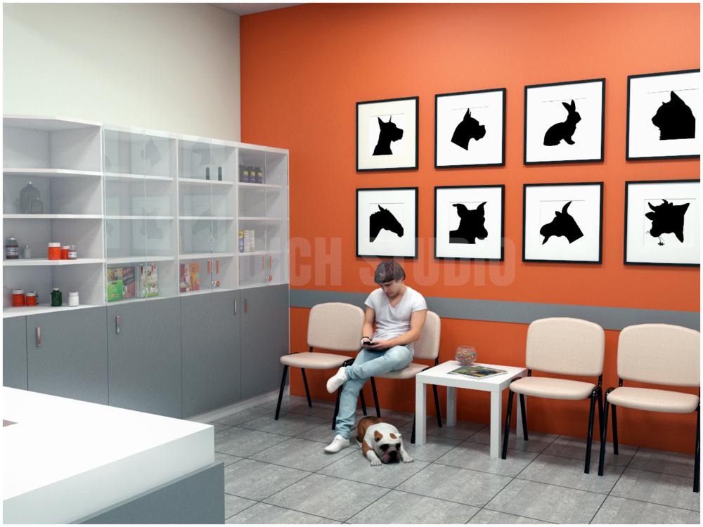 Waiting hall vet clinic