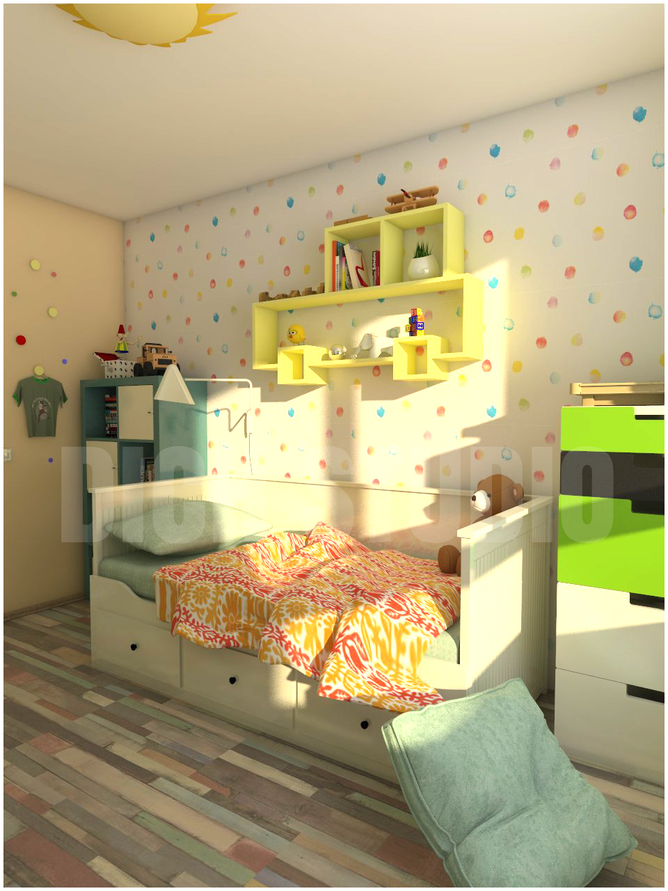 Kids room interior design project Mladost Sofia
