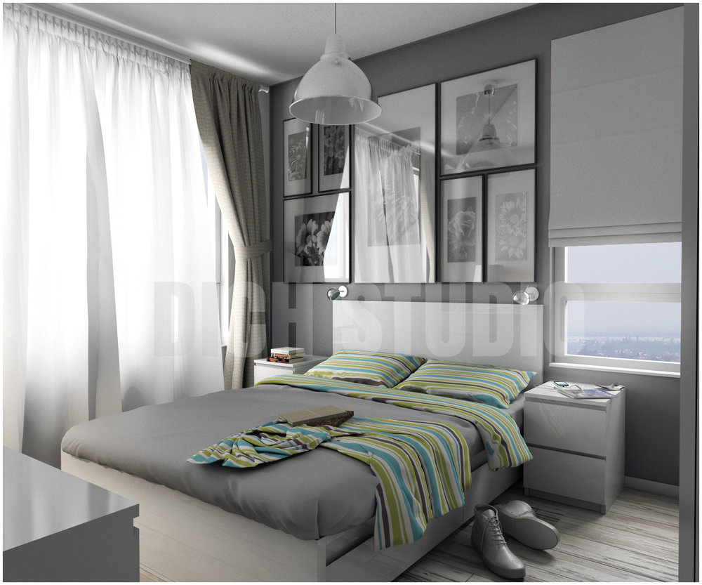 Master bedroom interior design project Mladost Sofia