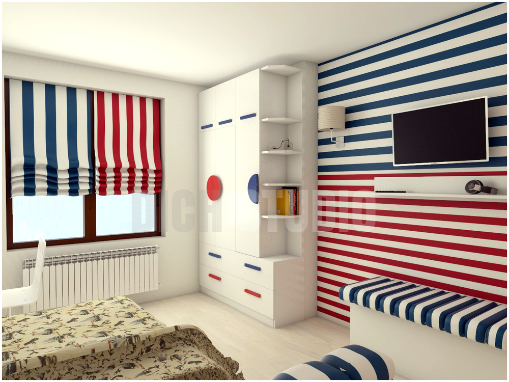 Дизайн детска стая - гардероб