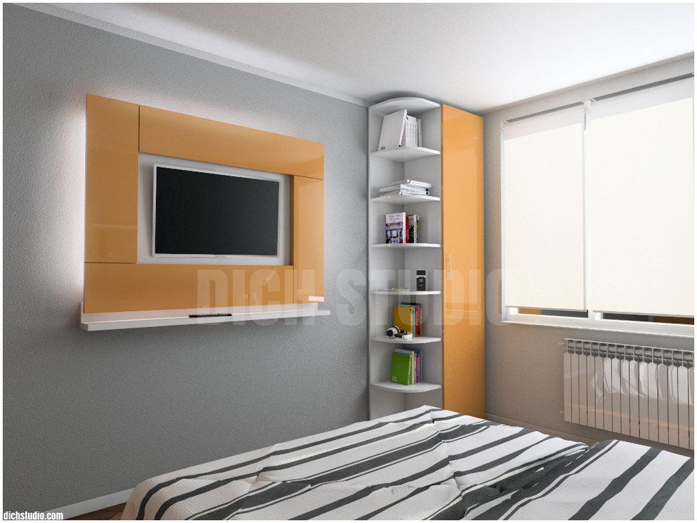 Идея за телевизор, спалня