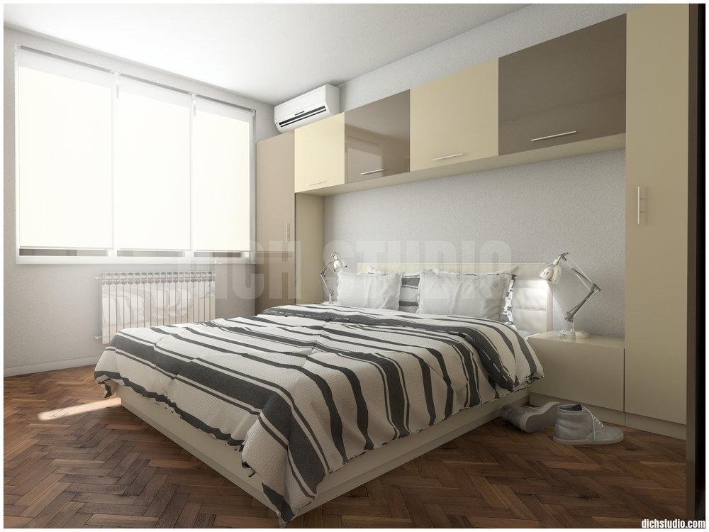 Паркет рибена кост - спалня, дизайн на апартамент