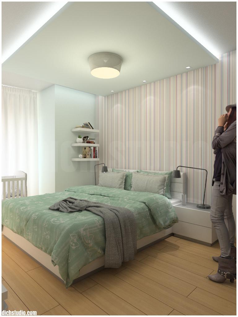 Спалня - окачен таван Овча Купел София