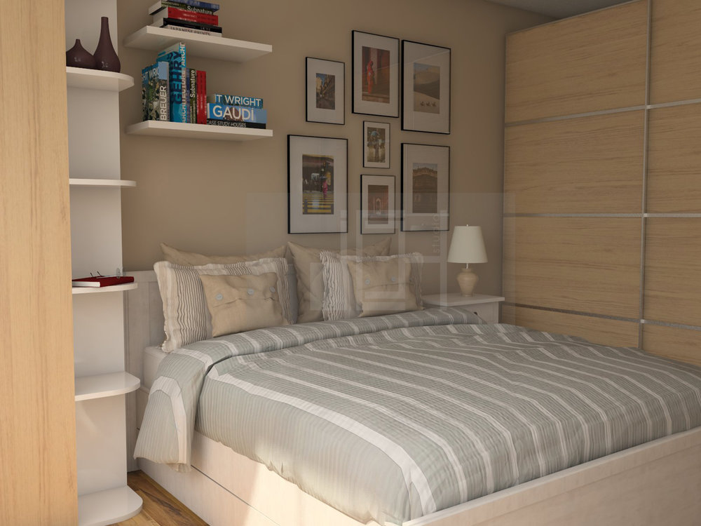 Design bedroom wood wardrobe frame wall Vratsa