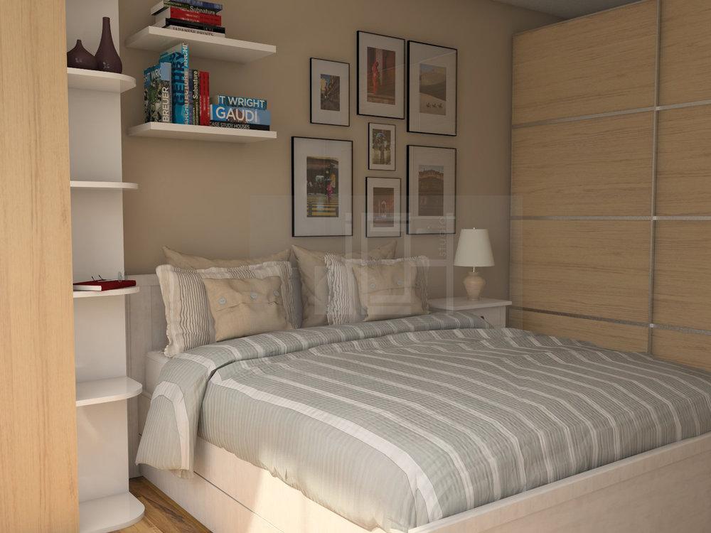 Дизайн на спалня кафяво, Враца