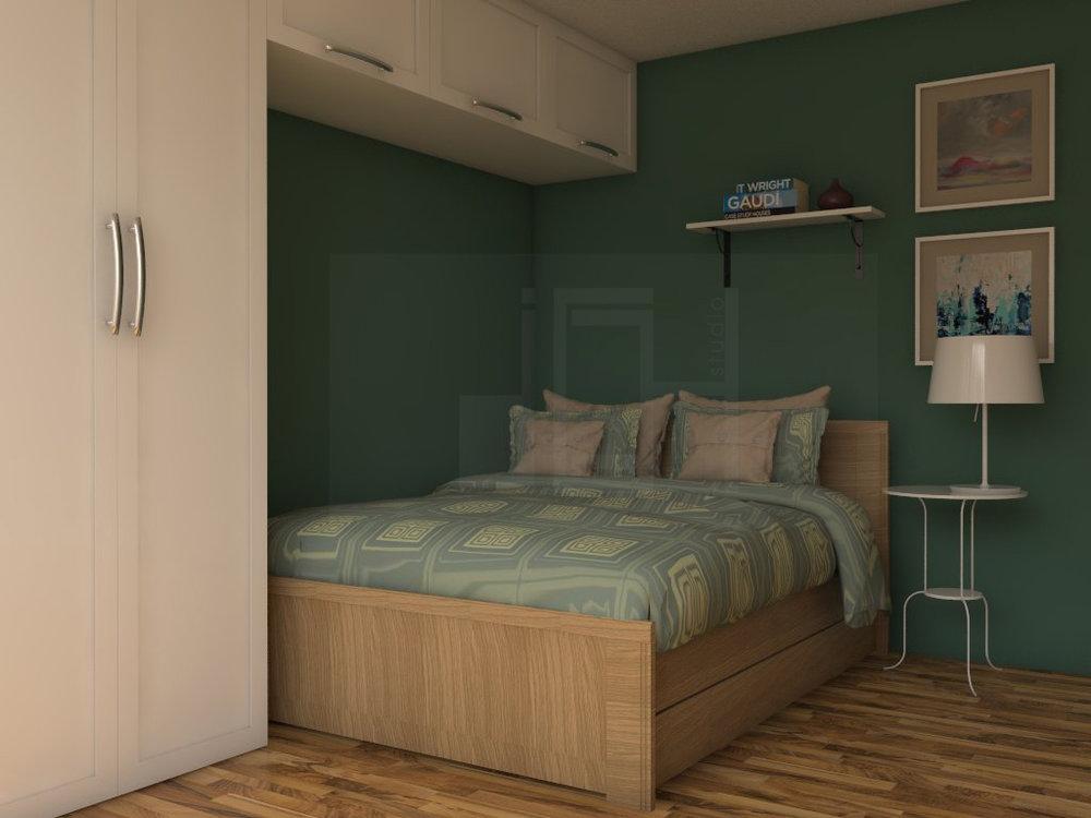Зелено дизайн на спалня, Враца