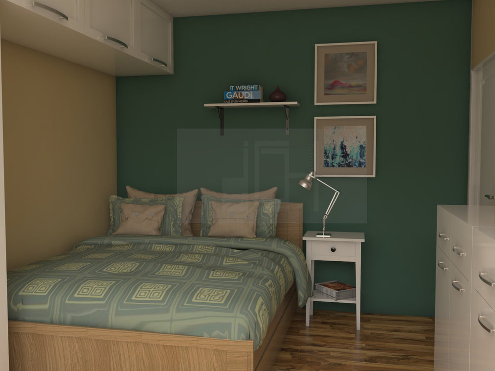 Design bedroom in green Vratsa