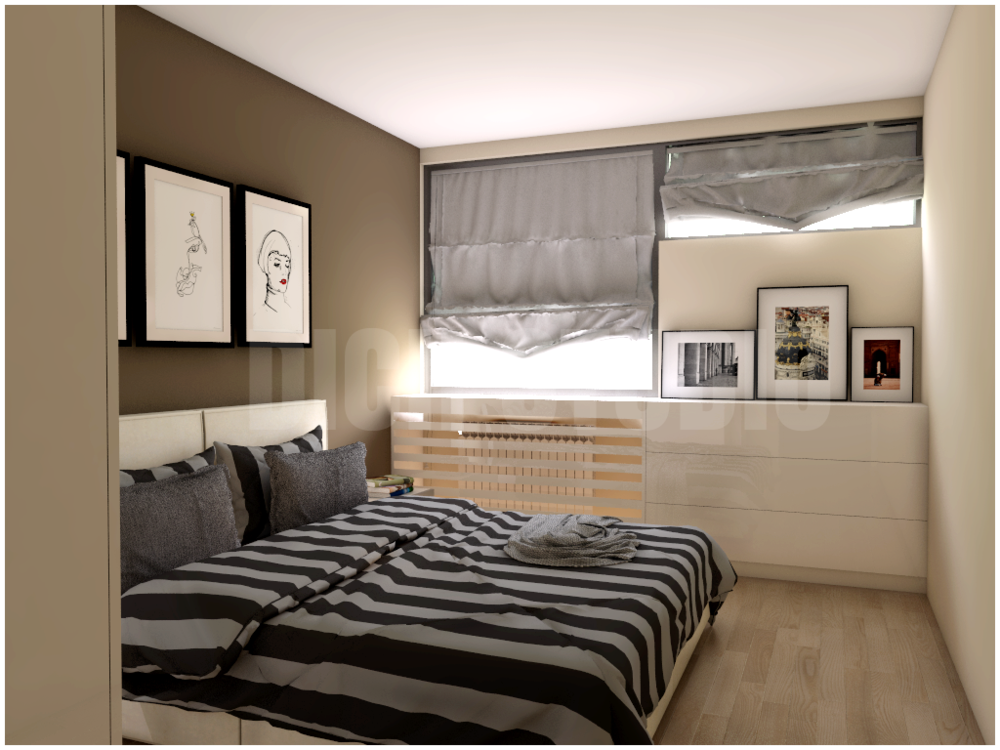 Bedroom idea brown