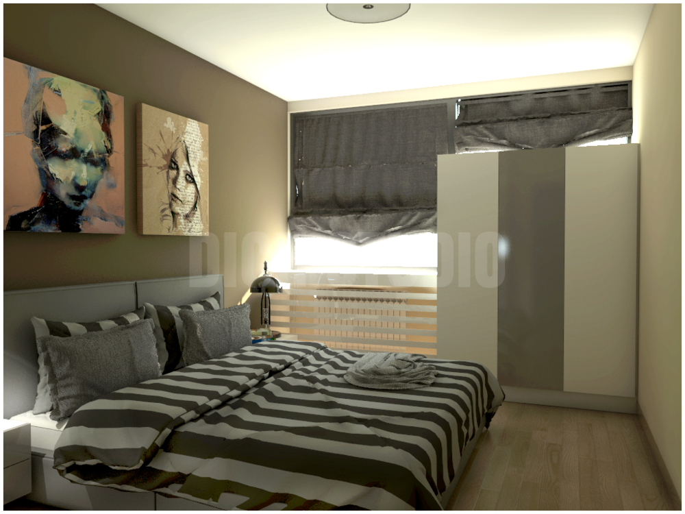 Bedroom idea dark brown
